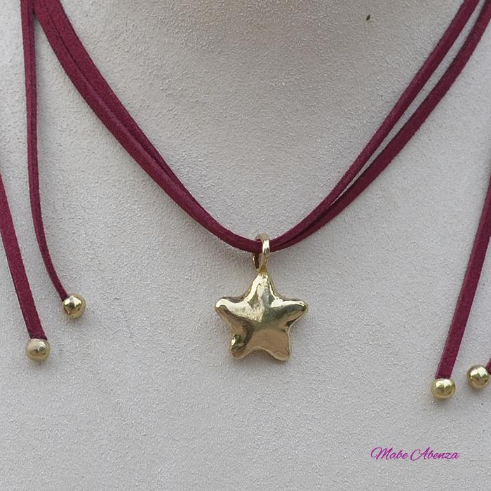Estrella de latón detalle