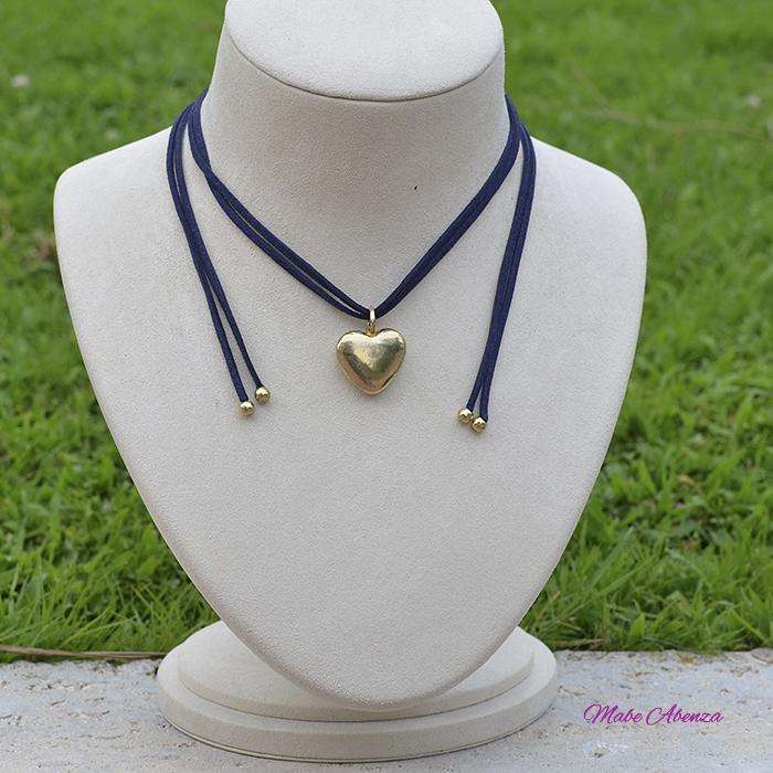 Corazón de latón azul 700
