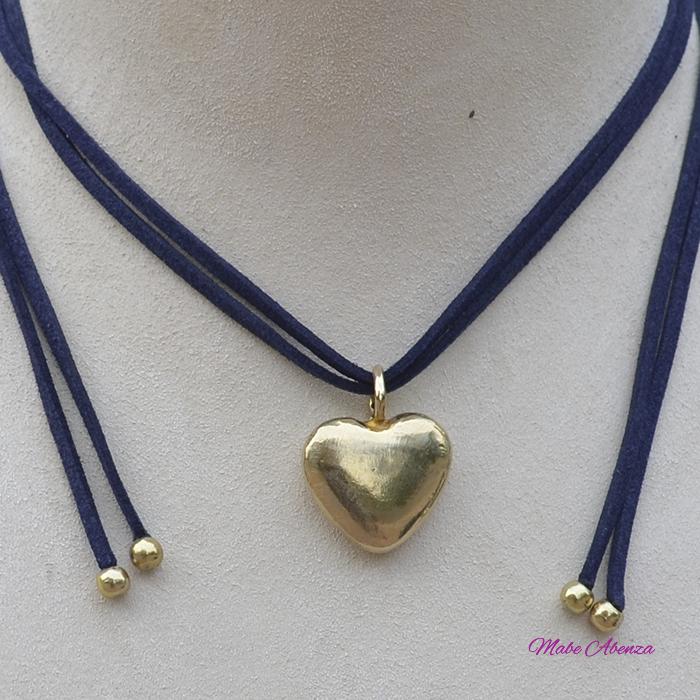 Corazón de latón detalle