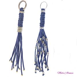 Llaveros de cintas azules